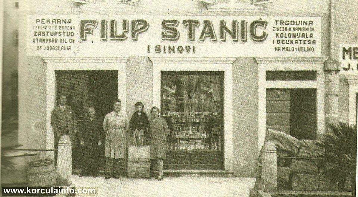 Shop Filip Stanic, Korcula (1920s)