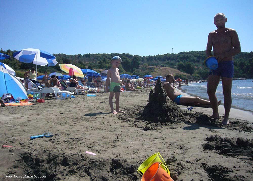 Sand Castle at Vela Przina Beach
