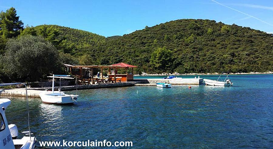 Vrbovica Beach and bay - Korcula Island