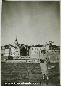 Woman & Town, Korcula 1930s