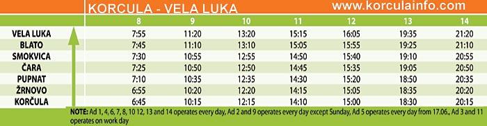 bus-korcula-velaluka-timetable