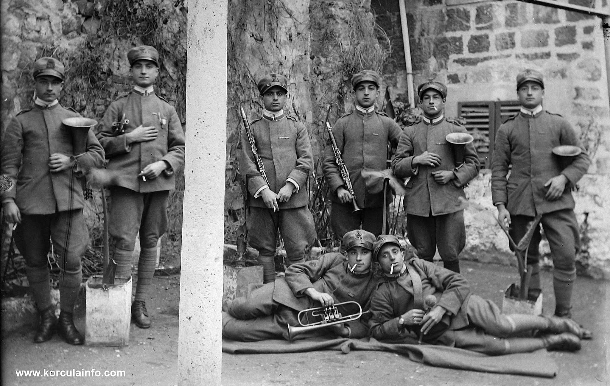 Brass Band in Korcula in 1911