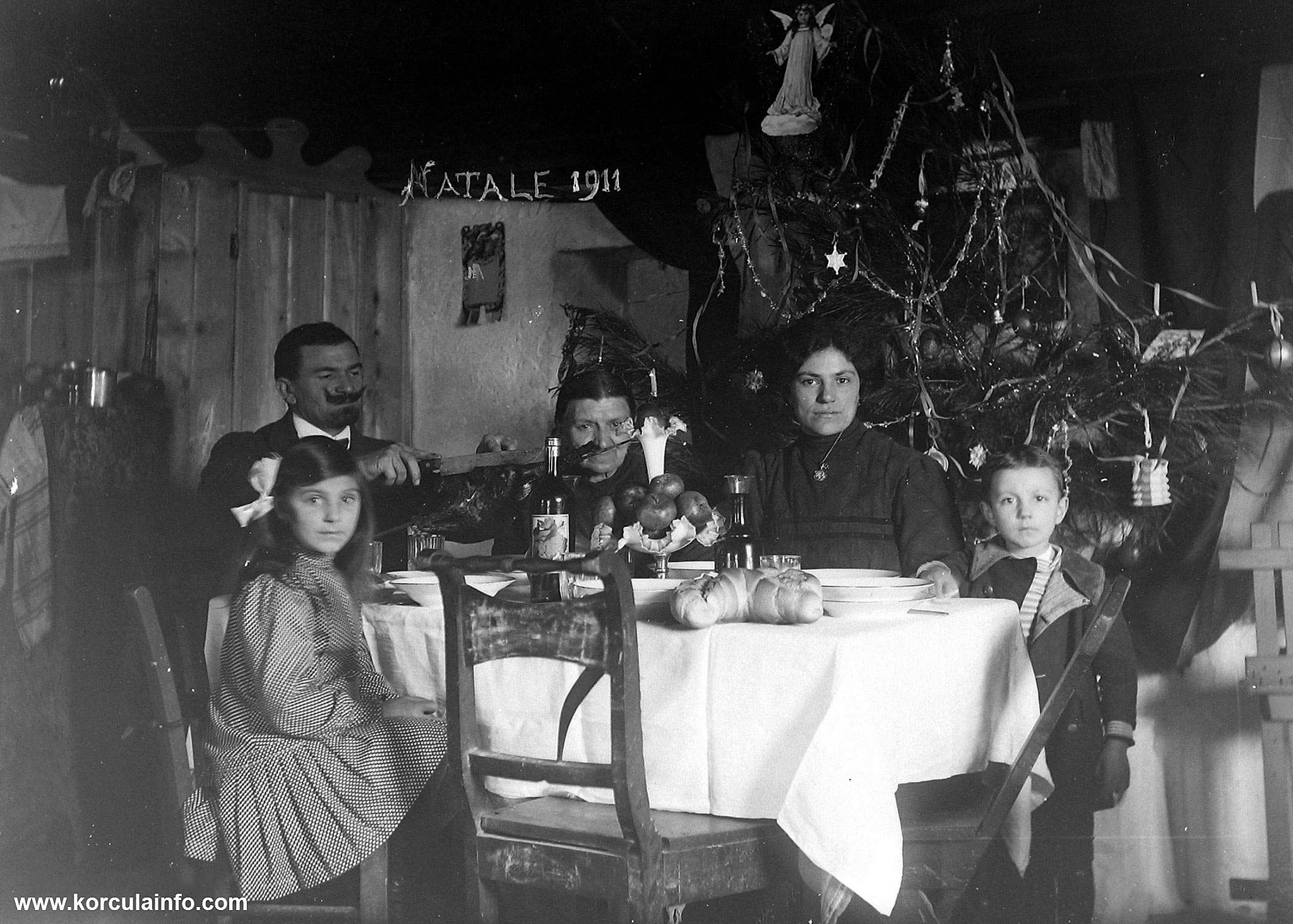 Christmas Lunch in Korcula in 1911