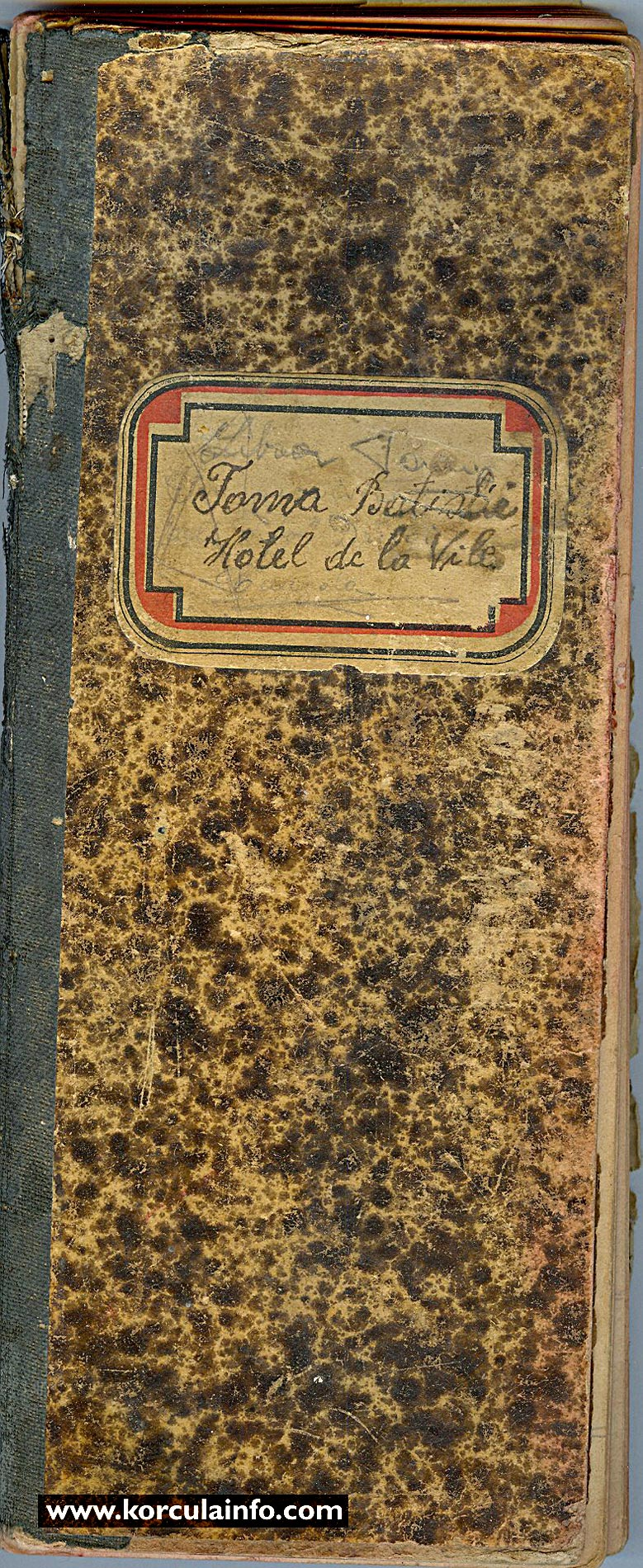 Hotel Korcula Daybook from 1930s