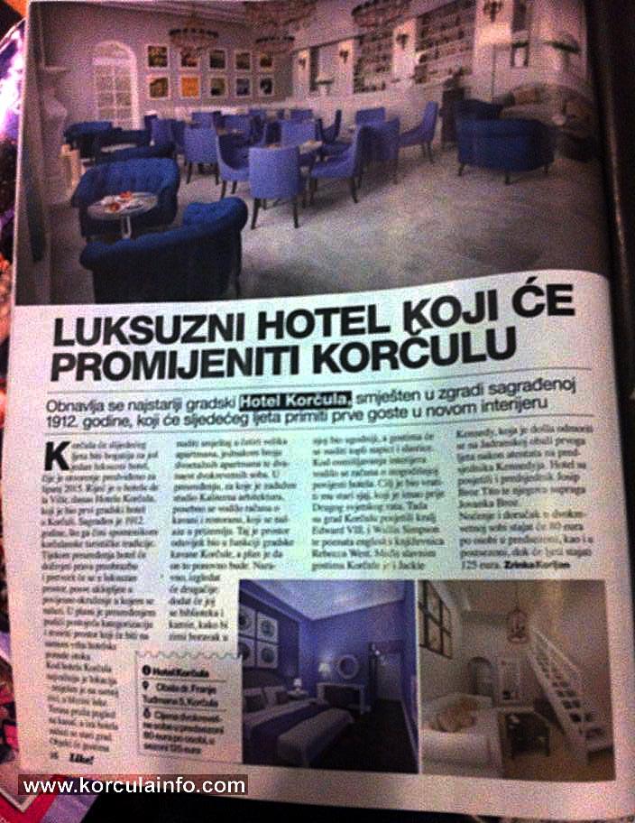 hotel korcula @ Jutarnji List 2014