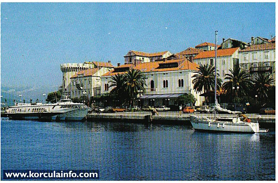 Hotel Korcula Postcard from 1980s