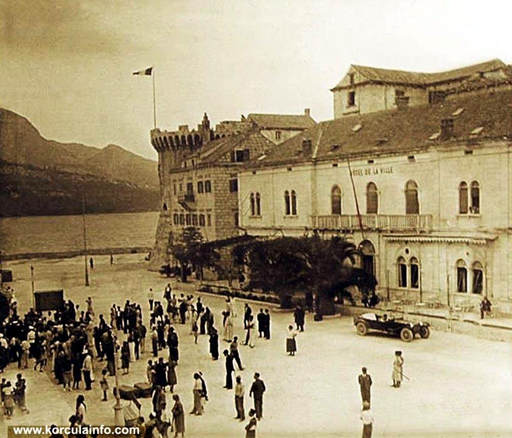 Riva and Hotel Korcula (1940s)