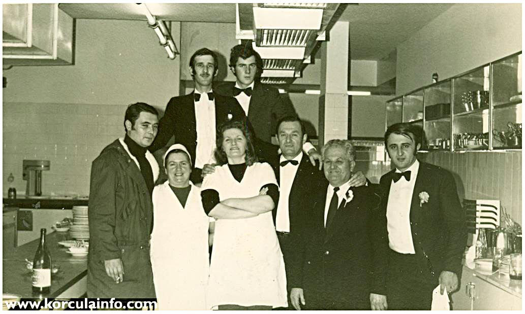 Hotel Korcula - staff in 1970s