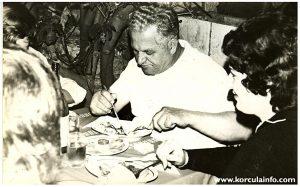 Toma Batistic - legendary waiter @ Hotel Korcula