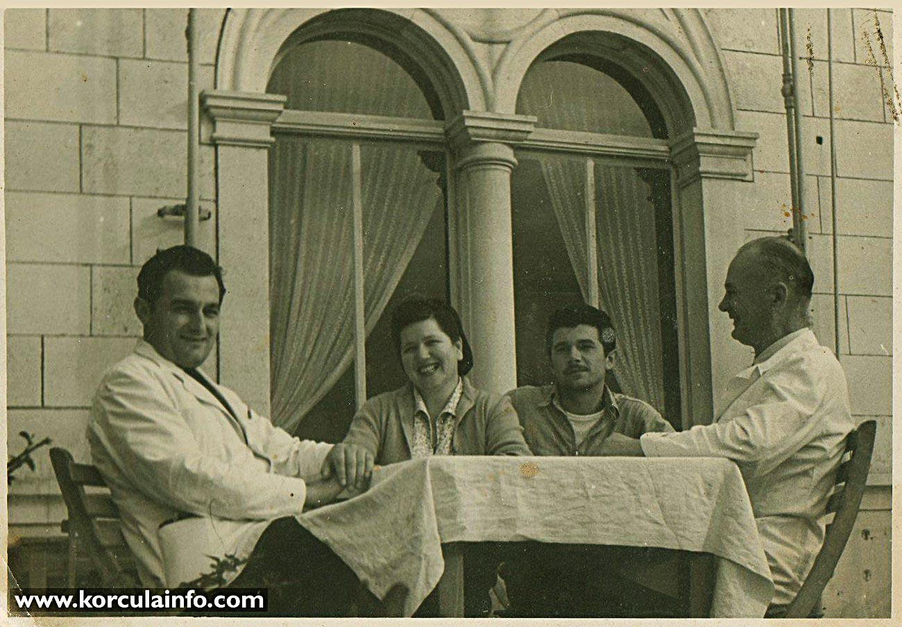 Workers of Hotel Korcula - in 1960s