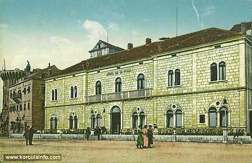 Hotel Korcula in 1915s