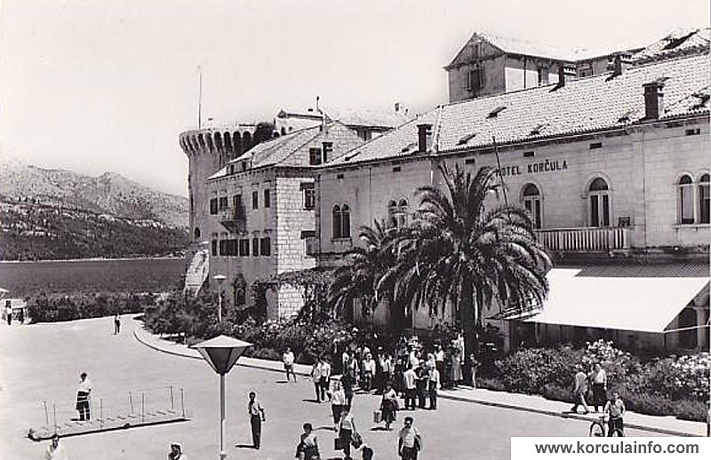 Hotel Korcula in 1950s