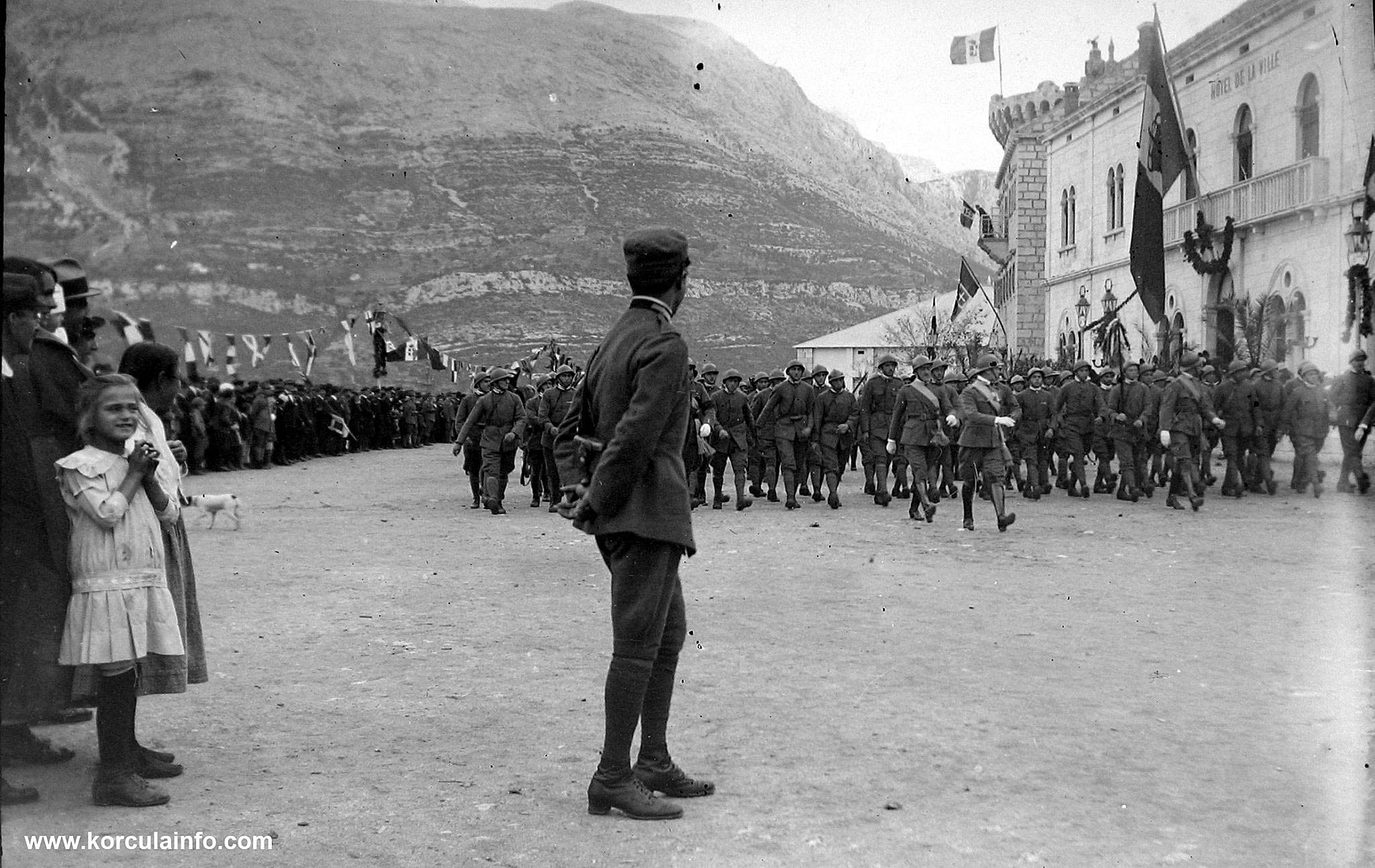 Italian Soldiers at Riva in Korcula in 1911