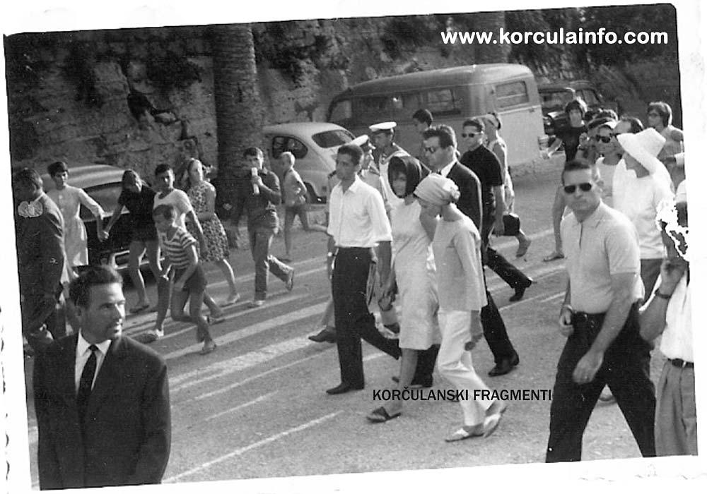 Jacqueline Kennedy in Riva, Korcula, 1963