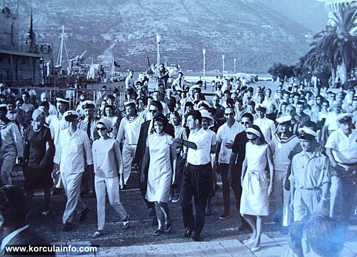 Jacqueline Kennedy in Korcula in 1963