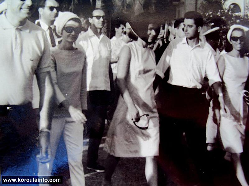 Jacqueline Kennedy visiting Korcula in 1963