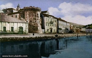 Kino near Hotel Korcula in 1920s