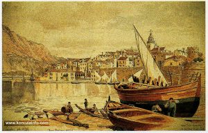 Korcula - Drawing from 1884