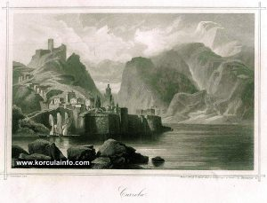 Korcula 1859 - engraving by E. Obermeyer