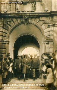 King Alexander I Karađorđević visiting Korcula 28.09. 1925