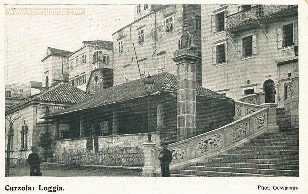 Loggia and Hotel Korcula 1890s