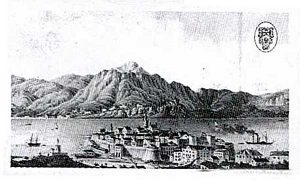 Old Drawing of Korcula