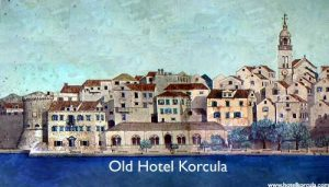 Hotel Korcula - architectual drawing