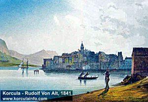 Korcula by Rudolf Von Alt from 1841