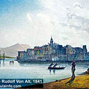 Korcula by Rudolf Von Alt from 1841