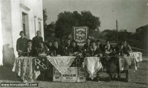 Singer tecaj (Sewing course) in Janjina, Peljesac 1930s