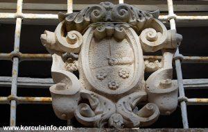 Coat of Arms of Španić Family @ palača Španić in Korcula