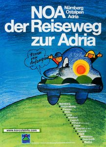 Alpe Adria Route Poster 1970s