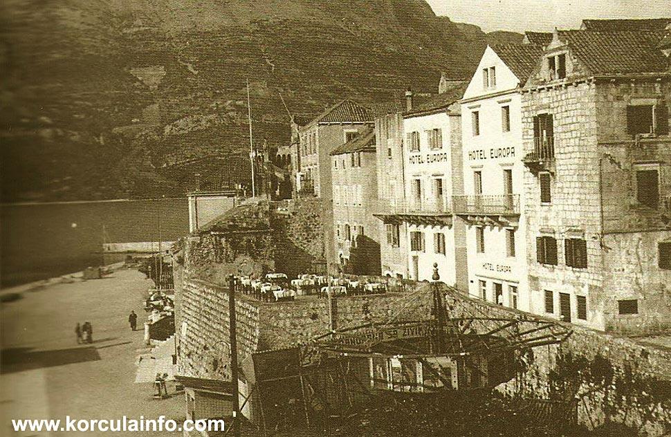 Hotel Europa in Korcula 1930's