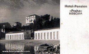 Hotel Praha in Korcula in 1930s