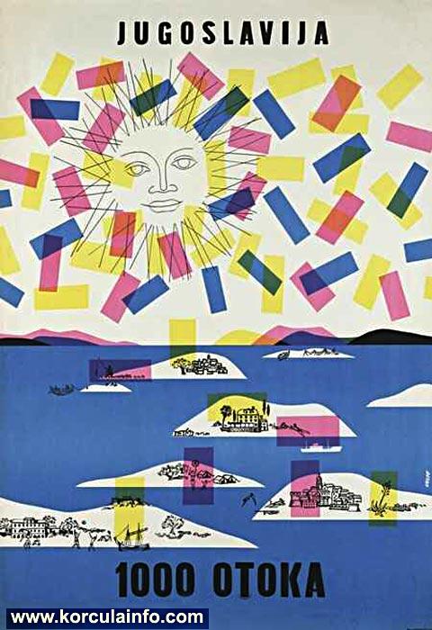 1000 Islands (1000 otoka) - Promotional Poster by Milan Vulpe(1960)