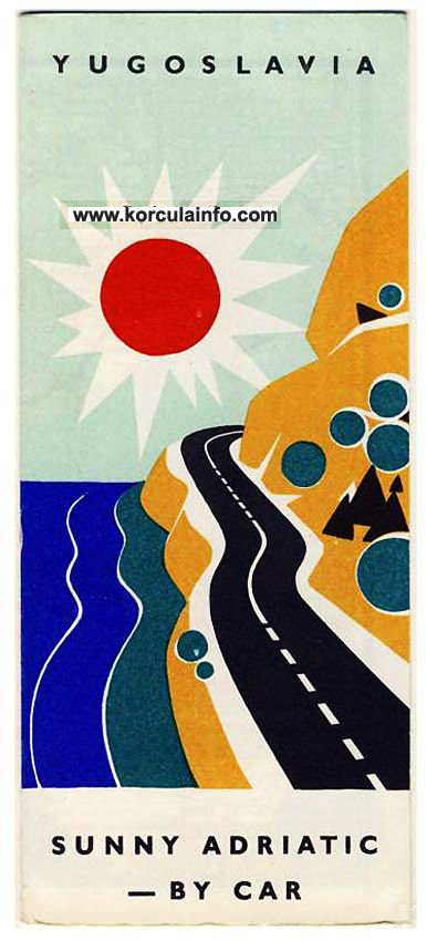 Sunny Adriatic By Car Tourist Map from 1966