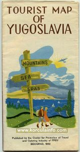 Mountains, Sea, Spas - Tourist Map from 1952
