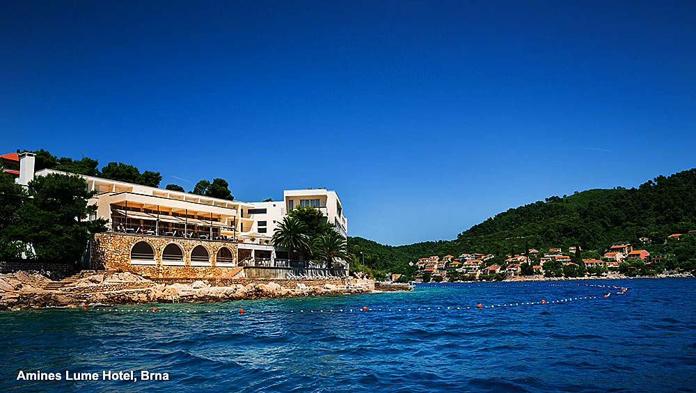 Aminess Lume Hotel - Brna, Korcula Island - views from the boat