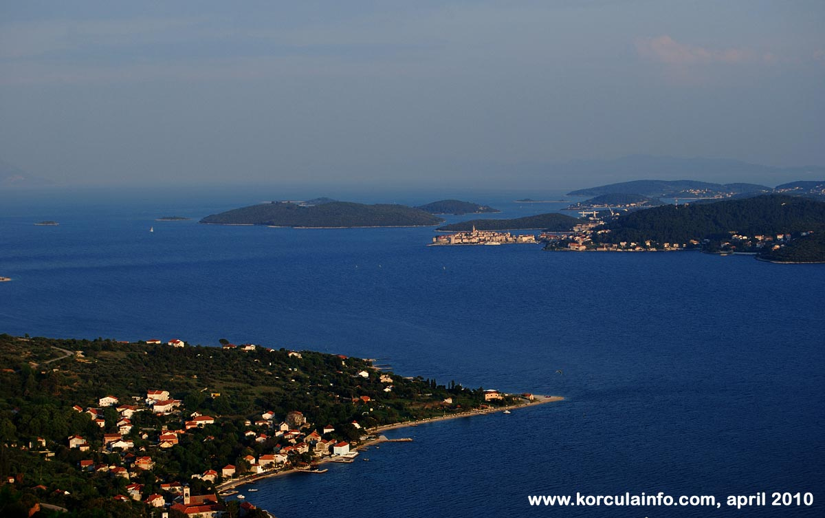 Views over Korcula from Peljesac