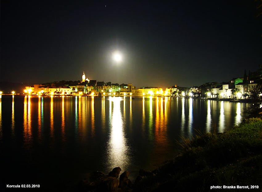 Korcula Old town by Night