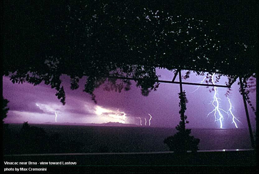 Lightning in Vinacac, Brna - Korcula Island (2006)