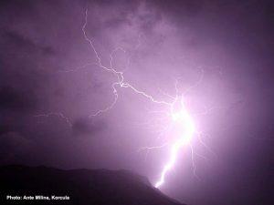 Lightning in Korcula (2009)