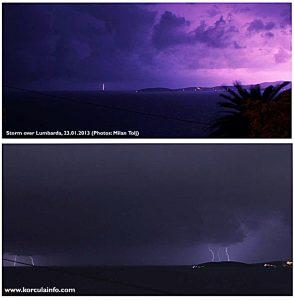 Lightning over Lumbarda, Korcula (2013)