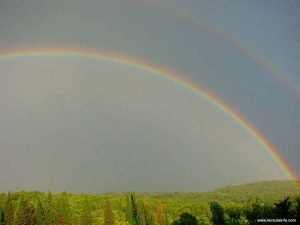 Rainbow over Korcula forest (2006)