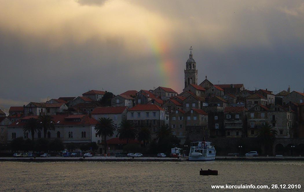 Rainbow over Korcula (2010)