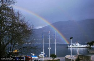 Rainbow in Korcula Port (Jan 2014)