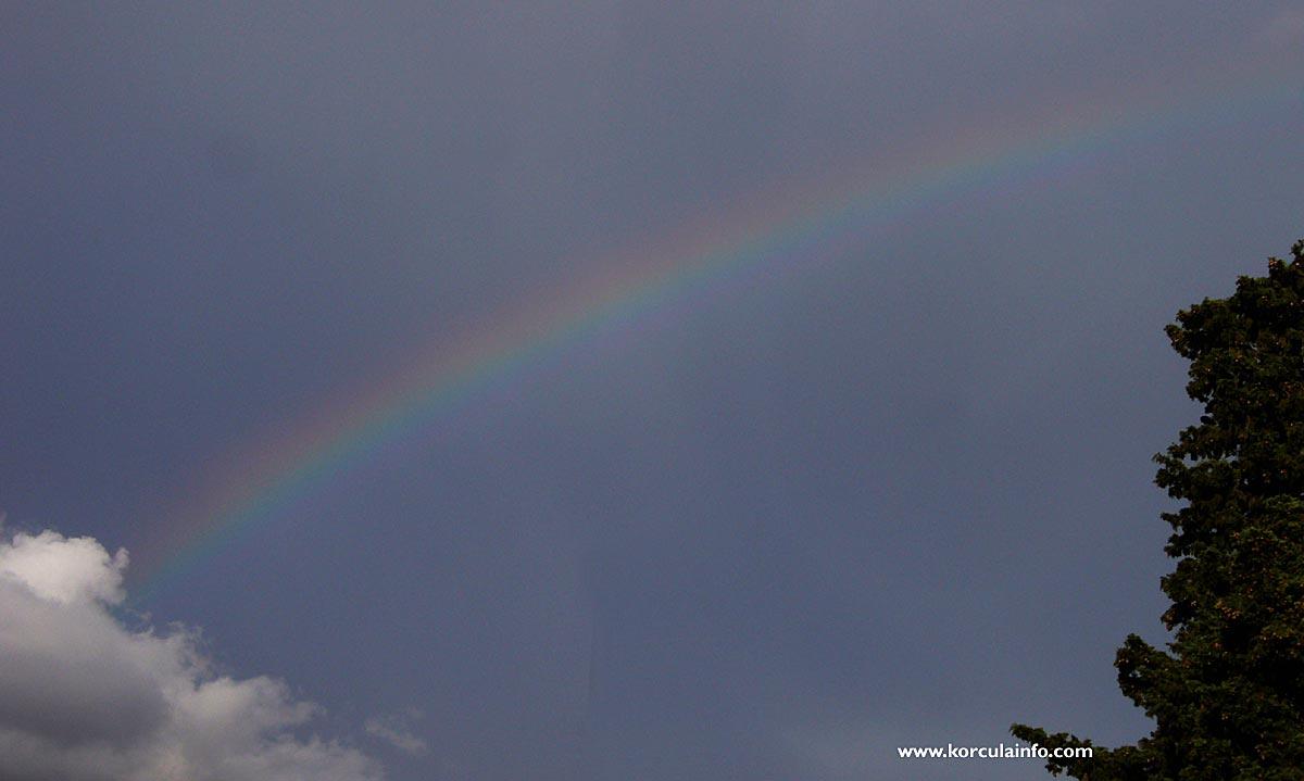 Rainbow in Korcula sky (2011)
