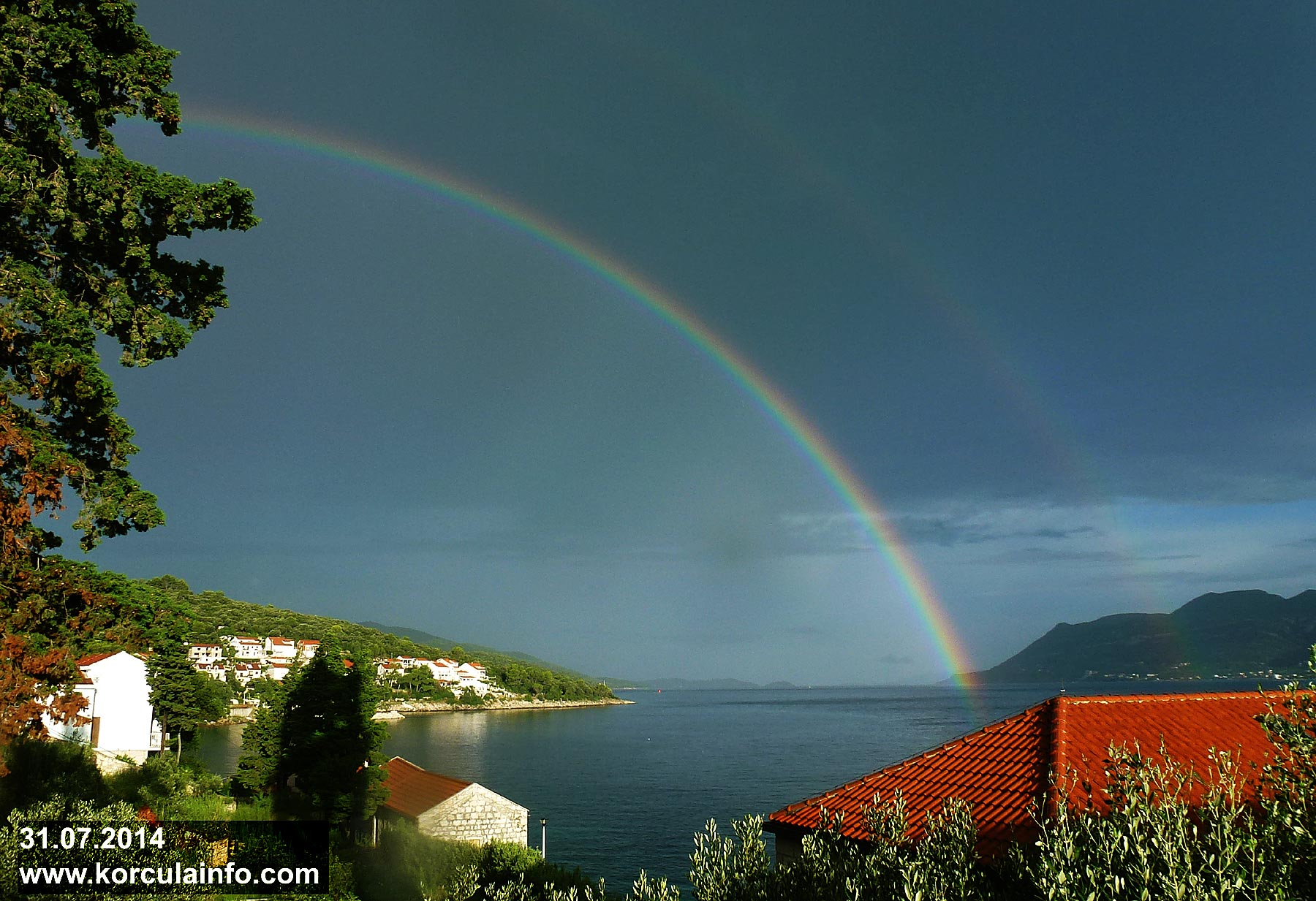 Rainbow in Sveti Nikola, Korcula (July 2014)