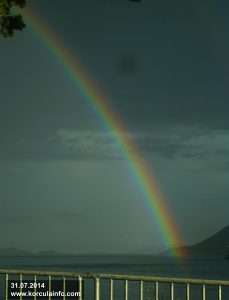 Rainbow over Korcula (2014)
