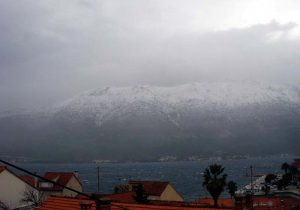 Snow in Korcula and Peljesac (2012)